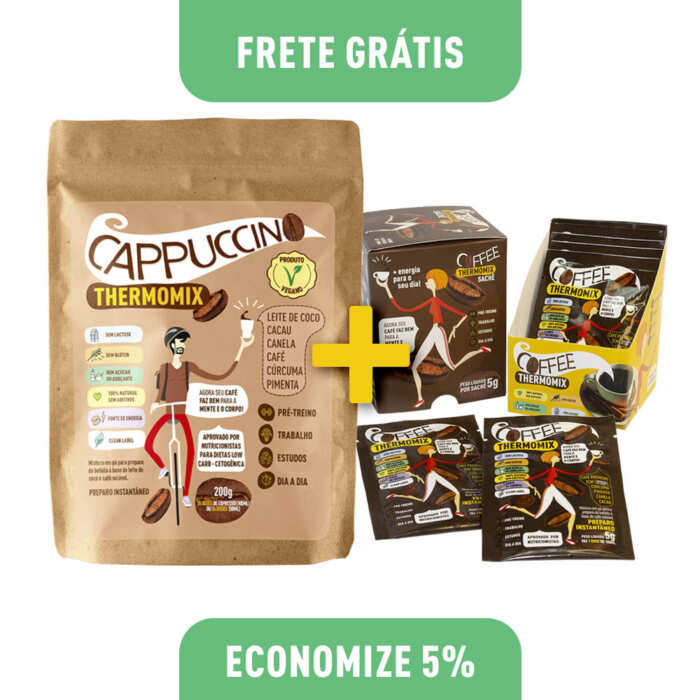 Kit 1 Cappuccino ThermoMix 200g (Stand Up Pouch) + 1 Coffee ThermoMix 50g (Display)