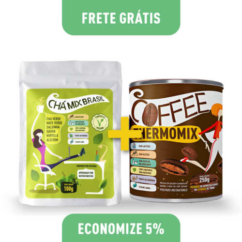 Kit 1 Chá Mix Brasil 100g (Stand Up Pouch) + Coffee ThermoMix 250g (Lata)