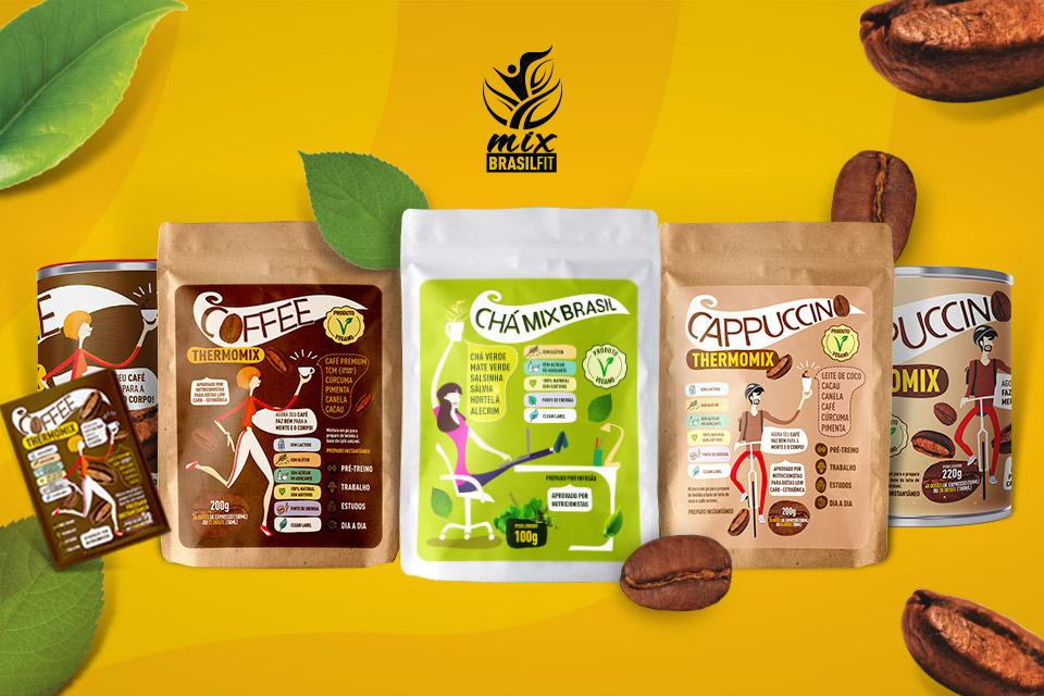 Lançamentos produtos Mix Brasil Fit: Chá Mix Brasil e Cappuccino Thermomix